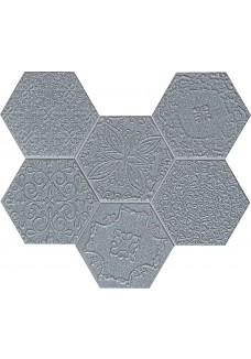Tubądzin LACE graphite mozaika ścienna 28,9x22,1