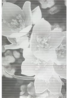 Tubądzin Dekor ścienny 3-elementowy Coll grey 59,8x89,8