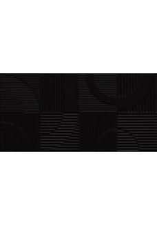 Tubądzin Dekor ścienny Coll Round black STR 29,8x59,8