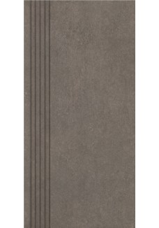 Paradyż Rino nero stopnica prosta nacinana mat 29,8x59,8