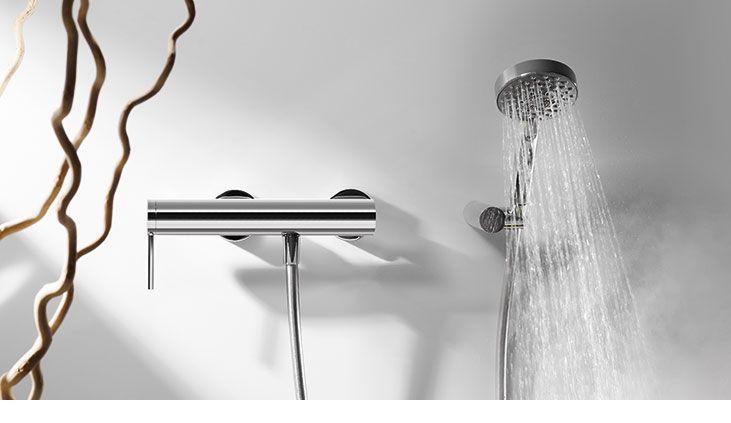 Mono-term natynkowe baterie prysznicowe