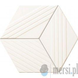 Tubądzin COLOUR White 22,6x19,8