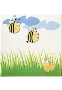 Tubądzin Pastele Dekor ścienny Robaczki 2 (pszczoły) 20x20