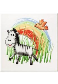 Tubądzin Pastele Dekor ścienny Safari 1 (zebra) 20x20
