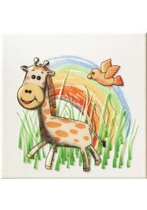 Tubądzin Pastele Dekor ścienny Safari 2 (żyrafa) 20x20