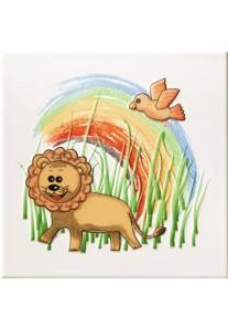 Tubądzin Pastele Dekor ścienny Safari 3 (lew) 20x20