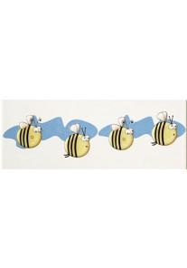 Tubądzin Pastele Listwa ścienna Robaczki 2 (pszczoły) 20x7,4