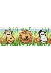 Tubądzin Pastele Listwa ścienna Safari 1 (zwierzątka) 20x7,4
