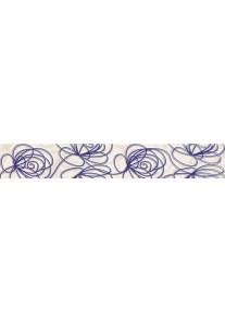 Tubądzin WAVE Modern violet listwa ścienna 44,8x7,1