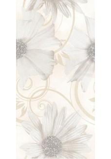 Paradyż Sabro bianco inserto kwiat 29,5x59,5