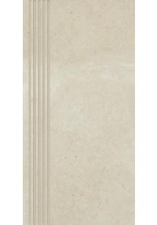 Paradyż Adana bianco stopnica nacinana mat 29,8x59,8