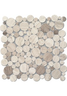 Tubądzin DROPS stone grey circle 30,5x30,5