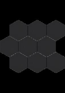 Cerrad CAMBIA Black 27x33 lappato Mozaika Heksagon