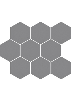 Cerrad CAMBIA Gris 27x33 lappato Mozaika Heksagon