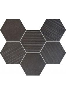 Tubądzin HORIZON HEX Black mozaika ścienna 28,9x22,1