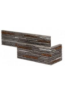 Stones Ineria 2 (szary) narożnik kamień dekoracyjny wewnętrzny (8szt.=1.17m2)