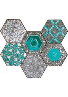 Tubądzin LACE absinthe mozaika ścienna 28,9x22,1
