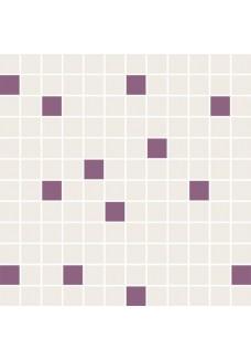 Paradyż Luciola ecru/viola mix mozaika cięta 29,8x29,8