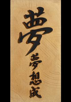 """Stegu ORIENT Marzenie (35x70x3,8cm) """"Marzenia stają się prawdą"""" - piasek"""