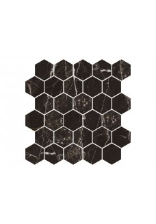 Nowa Gala MAGIC BLACK MB14 mozaika heksagon 27x27