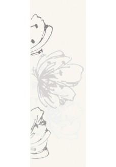 Paradyż Midian Bianco inserto kwiaty 20x60