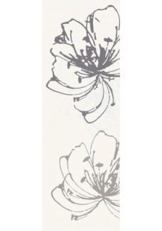 Paradyż Midian Bianco inserto kwiaty A 20x60