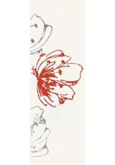 Paradyż Midian Grys inserto kwiaty 20x60