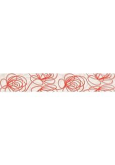 Tubądzin WAVE Modern red listwa ścienna 44,8x7,1