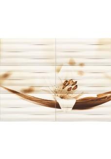 Tubądzin MAXIMA brown 2 obraz ścienny 6-elementowy 89,8x67,3