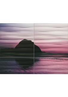 Tubądzin MAXIMA violet 1 Obraz ścienny 6-elementowy 89,8x67,3