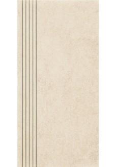 Paradyż Rino beige stopnica prosta nacinana mat 29,8x59,8