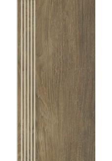 Paradyż ROBLE Brown stopnica mat 29,4x59,9