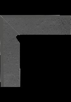 Paradyż SEMIR Grafit cokół lewy 8,1x30