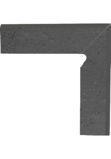 Paradyż SEMIR Grafit cokół prawy 8,1x30