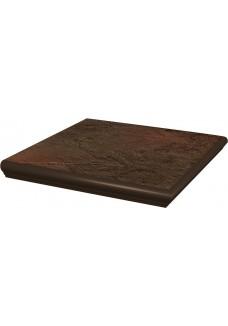 Paradyż SEMIR Brown stopnica narożna z kapinosem 33x33