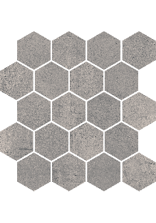 Paradyż SPACE Grafit mozaika hexagon poler 25,8x28