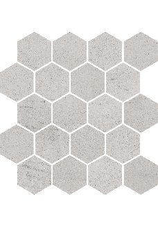 Paradyż SPACE Grys mozaika hexagon mat 25,8x28