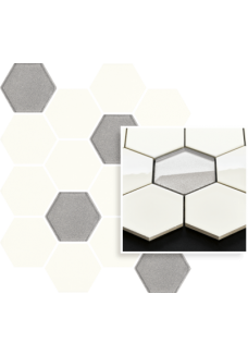 Uniwersalna Mozaika Bianco Paradyż Hexagon mix 22x25,5