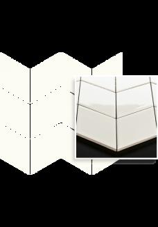 Uniwersalna Mozaika Bianco Paradyż Romb Braid 20,5x23,8