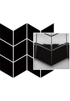 Uniwersalna Mozaika Nero Paradyż Romb Braid 20,5x23,8