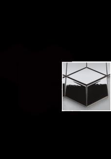 Uniwersalna Mozaika Nero Paradyż Romb Hexagon 20,4x23,8