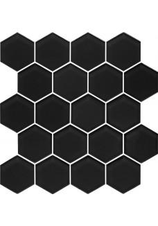 Paradyż MARGARITA Mozaika Szklana Nero Heksagon 28x25,8