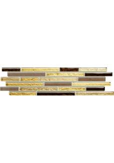 Tubądzin VENATELLO brown mosaic listwa ścienna 37.2x9.8