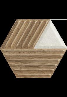 Paradyż WOODSKIN Mix heksagon struktura C 19,8x17,1