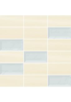 Paradyż Chiara Bianco/Beige mozaika cięta mix 29,8x29,8 G1