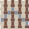 Paradyż MODERNIZM Bianco Mozaika MIX B K.3,6x4,4