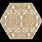 Paradyż SHINY LINES Gold Heksagon Inserto A 19,8x17,1