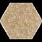 Paradyż SHINY LINES Gold Heksagon Inserto F 19,8x17,1