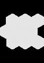 Cerrad CAMBIA White 27x33 lappato Mozaika Heksagon